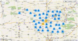 Map of Open Repeaters | Oklahoma Repeater Society Inc